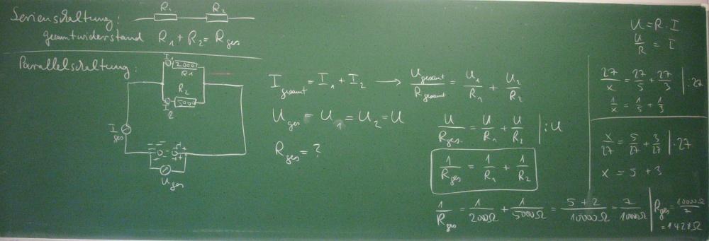 0910 Unterricht Physik 9a - Elektrizitätslehre