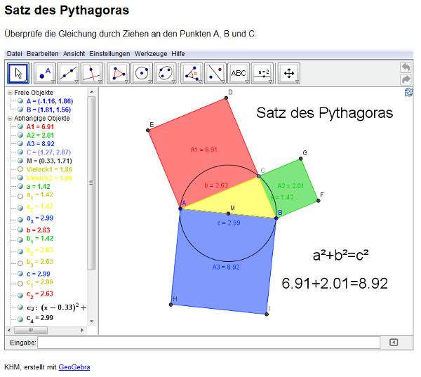 1112 Unterricht Mathematik 8e - Satz des Pythagoras